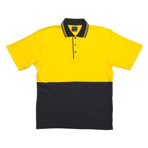 JB Hi Vis Cotton Adults Short Sleeve Polo 6CPHV 3
