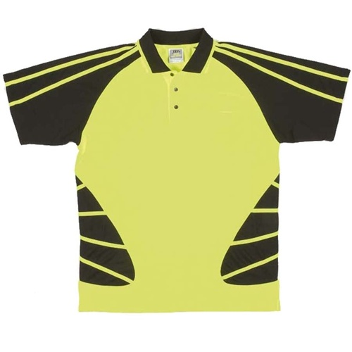 JB Hi Vis Spider Adults Short Sleeve Polo 6HSP 3