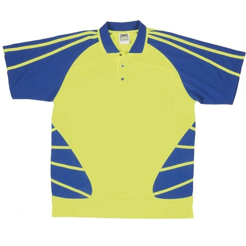 JB Hi Vis Spider Adults Short Sleeve Polo 6HSP 2