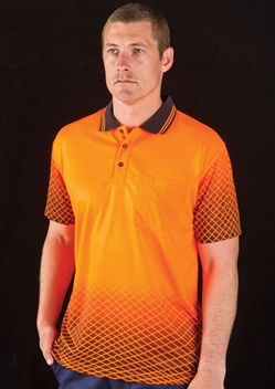JB Hi Vis Net Sub Adults Short Sleeve Polo 6HVNS