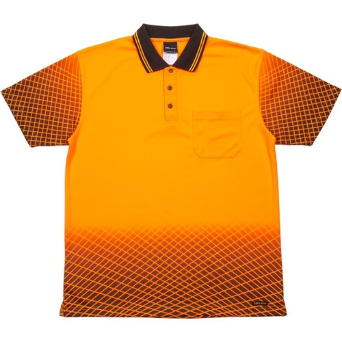JB Hi Vis Net Sub Adults Short Sleeve Polo 6HVNS 3