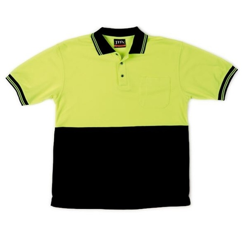 JB Hi Vis Traditional Adults Short Sleeve Polo 6HVPS 3