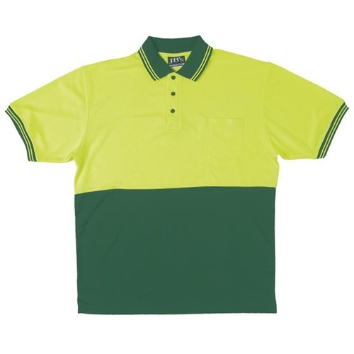 JB Hi Vis Traditional Adults Short Sleeve Polo 6HVPS 6
