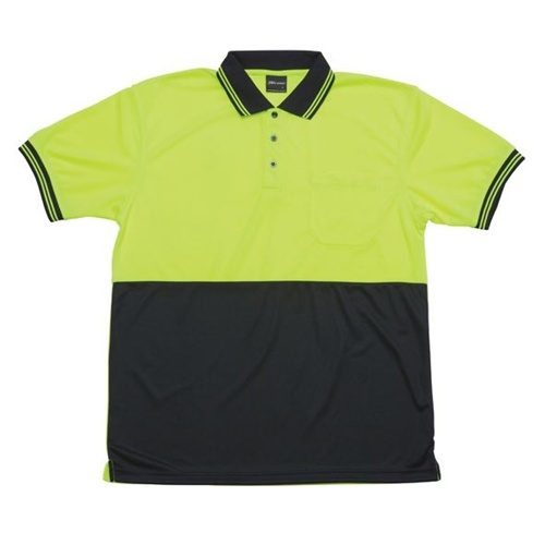 JB Hi Vis Traditional Adults Short Sleeve Polo 6HVPS 4