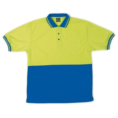 JB Hi Vis Traditional Adults Short Sleeve Polo 6HVPS 2