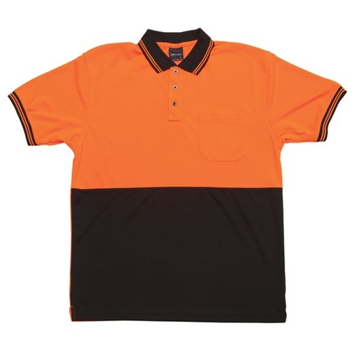 JB Hi Vis Traditional Adults Short Sleeve Polo 6HVPS 7