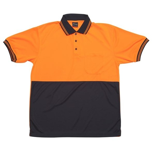 JB Hi Vis Traditional Adults Short Sleeve Polo 6HVPS 8