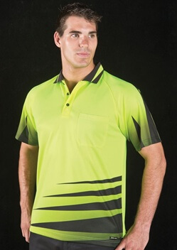 JB Hi Vis Rippa Sub Adults Short Sleeve Polo 6HVRS
