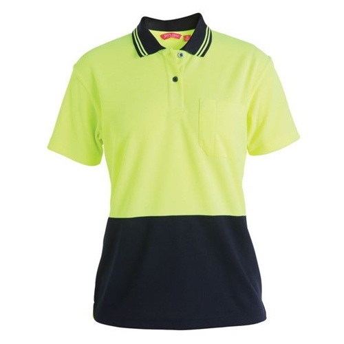 JB Hi Vis Comfort Ladies Short Sleeve Polo 6LHCP 2