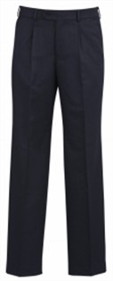 BC Mens Cool Stretch Pinstripe One Pleat Pants 70211 3
