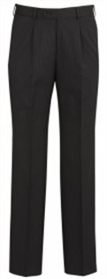 BC Mens Cool Stretch Pinstripe One Pleat Pants 70211 4
