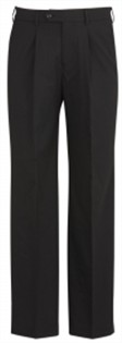 BC Mens Wool Stretch One Pleat Pants 74011 4