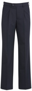 BC Mens Wool Stretch One Pleat Pants 74011 3