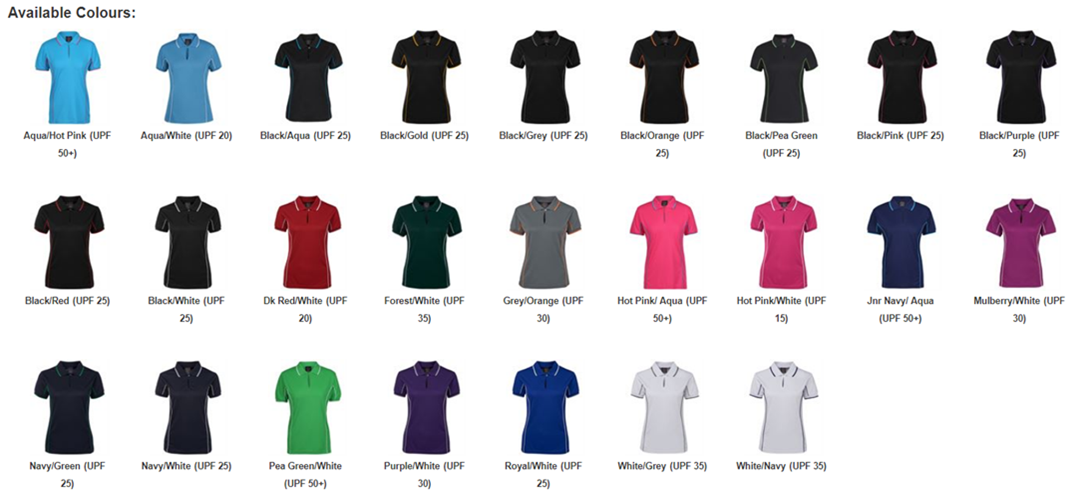 JB Piping Ladies Short Sleeve Polo 7LPI 2
