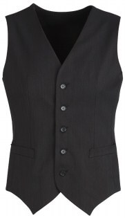 BC Mens Cool Stretch Plain Peaked Vest with Knitted Back 90111