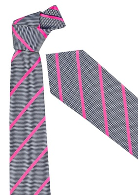 BC Mens Single Contrast Stripe Tie 99102 5