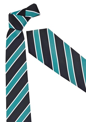 BC Mens Wide Contrast Stripe Tie 99103 4