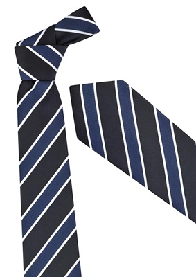 BC Mens Wide Contrast Stripe Tie 99103