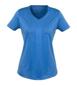Adv Mae Ladies Short Sleeve Knit Top AC41412