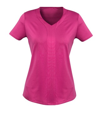 Adv Mae Ladies Short Sleeve Knit Top AC41412 10