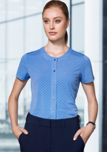 Adv Leah Ladies Button Knit Top AC42912