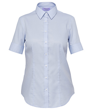 VH Ladies Mini Herringbone Classic Fit Short Sleeve Shirt AWS81U 3