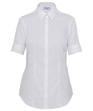 VH Ladies Mini Herringbone Classic Fit Short Sleeve Shirt AWS81U 2
