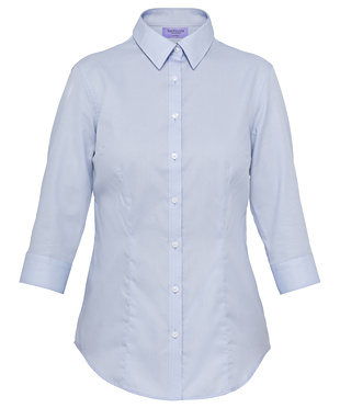 VH Ladies Mini Herringbone Classic Fit 3/4 Sleeve Shirt AWTQ81U 3
