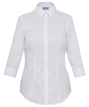 VH Ladies Mini Herringbone Classic Fit 3/4 Sleeve Shirt AWTQ81U 2