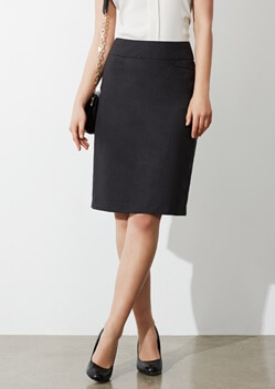 Biz Classic Ladies Knee Length Skirt BS128LS 1