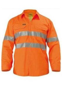 Bisley Lightweight Hi Vis Reflective Tape Long Sleeve Shirt BS6897