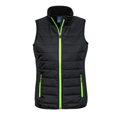 Biz Stealth Ladies Hybrid Quilted Vest J616L 2