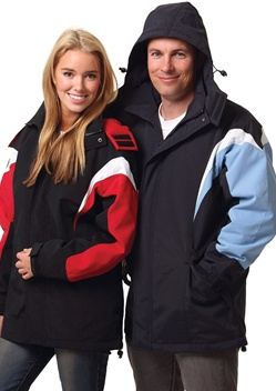 WS Bathurst Unisex Tri-Colour Jacket with Hood JK28 1