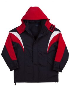 WS Bathurst Unisex Tri-Colour Jacket with Hood JK28 4