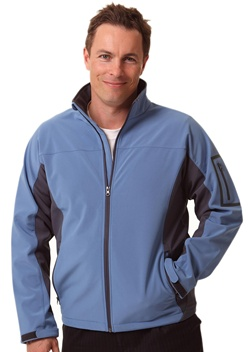 WS Whistler Mens Softshell Contrast Jacket JK31 1