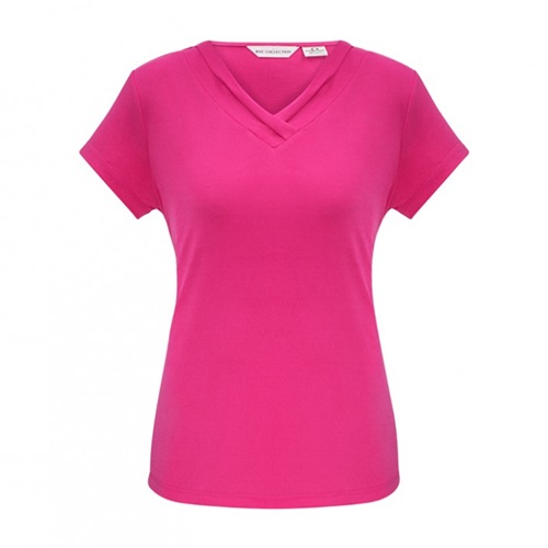 Biz Lana Ladies Short Sleeve Jersey Knit Top K819LS 5