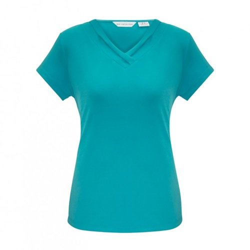 Biz Lana Ladies Short Sleeve Jersey Knit Top K819LS 6