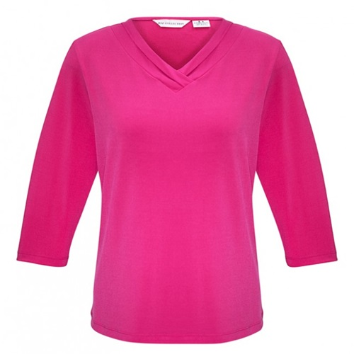 Biz Lana Ladies 3/4 Sleeve Jersey Knit Top K819LT 5