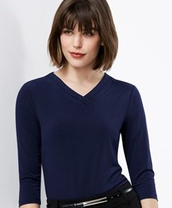 Biz Lana Ladies 3/4 Sleeve Jersey Knit Top K819LT