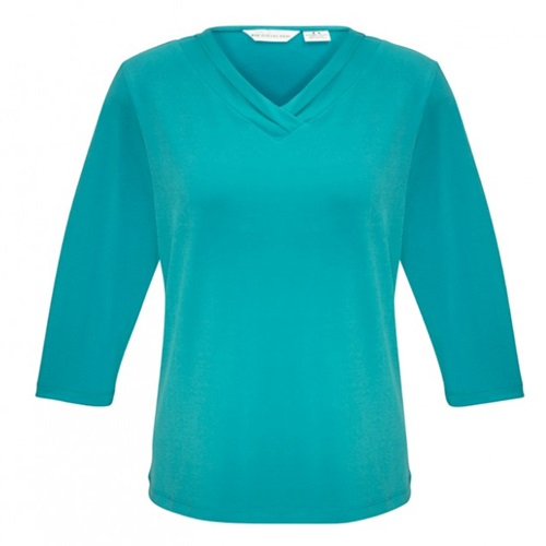 Biz Lana Ladies 3/4 Sleeve Jersey Knit Top K819LT 6
