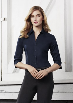 Biz Metro Ladies 3/4 Sleeve Shirt LB7300