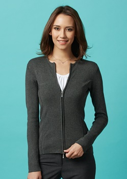 Biz 2 Way Zip Ladies Cardigan LC3505 1