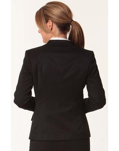 WS Ladies Stretch Plain One Button Cropped Jacket M9205 5
