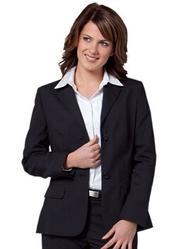 WS Ladies Stretch Plain Mid Length Jacket M9206 1