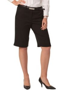 WS Ladies Stretch Plain Knee Length Flexi Waist Shorts M9441