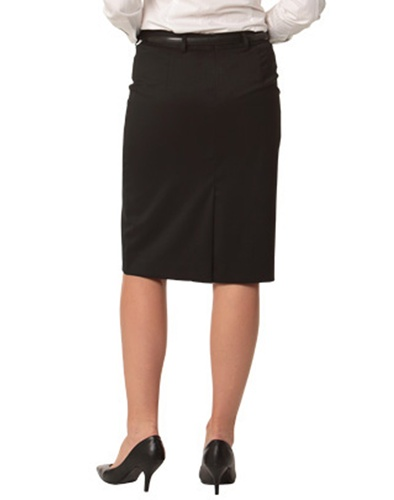 WS Ladies Stretch Plain Mid Length Pencil Skirt M9471 5