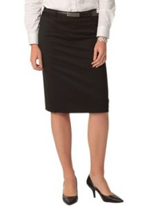 WS Ladies Stretch Plain Mid Length Pencil Skirt M9471