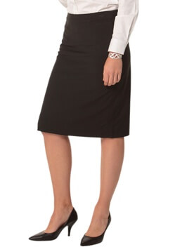 WS Ladies Stretch Stripe Pencil Skirt M9472 1