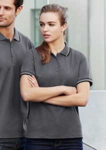 Biz Cambridge Cotton-Backed Ladies Polo P227LS