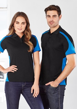 Biz Talon Mens Mesh Polo P401MS 1